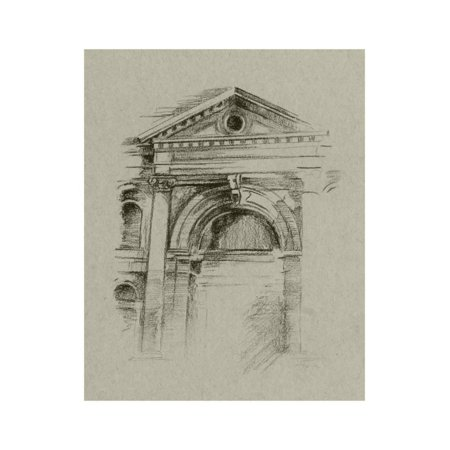 Architectural Wall Art (Charcoal Architectural Study II Print Wall Art By Ethan Harper)