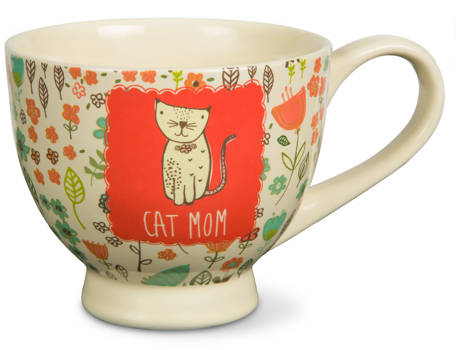 A Mother's Love Cat Mom Floral Soup Bowl Mug 17 oz by Pavilion Gift Company