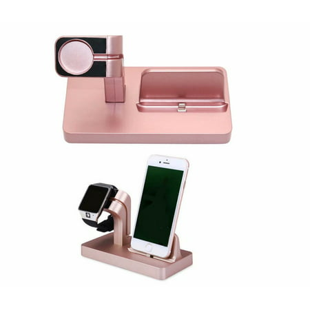 Wireless Charger 2-in-1 Watch Charger Holder 7.5W Wireless Charger Compatible Apple iWatch 2/3/4,Apple iPhone Xs Max XR XS X 8 (Apple Mac Car Charger)