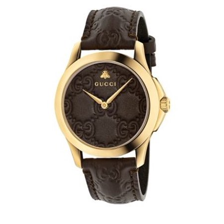Gucci G-Timeless Brown GG Dial Mens Watch YA1264035