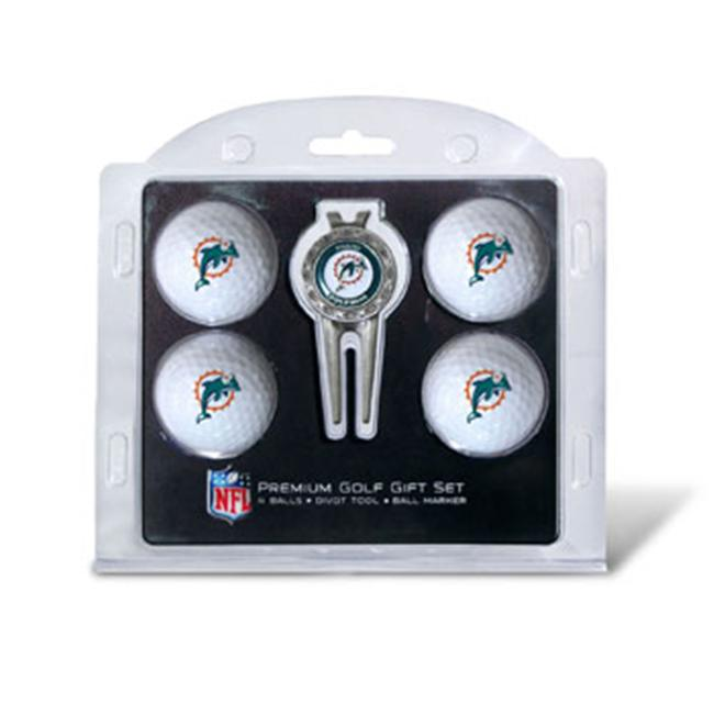 Team Golf 31506 Miami Dolphins Pack of 4 Golf Balls and Divet Tool Gift Set - image 1 de 1