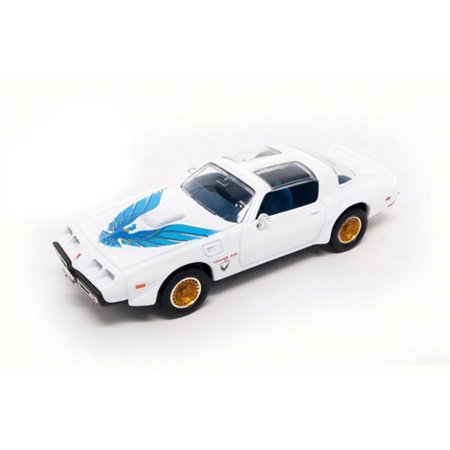 Firebird Track Top - 1979 Pontiac Firebird Trans AM T-Top, White - Road Signature 94239 - 1/43 Scale Diecast Model Toy Car