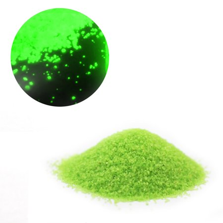 10g Glow In The Dark Luminous Sand Fluorescent Particles for DIY Starry Wishing Bottle Aquarium Fish Tank Decor Color:Fluorescent Green
