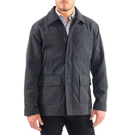 Alpine Swiss Wyat Mens Wool Blend Classic Barn Coat Cargo Pocket Military Jacket