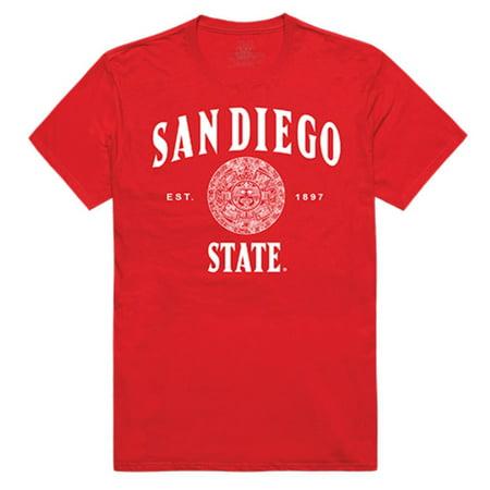 SDSU San Diego State University Aztecs Seal Tee T-Shirt Red Large