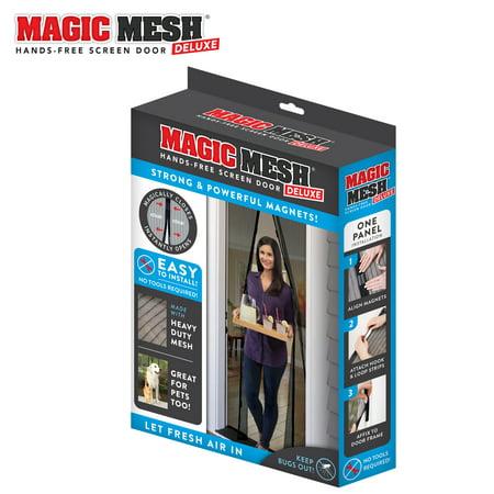 Magic Mesh Deluxe Magnetic Hands Free Screen Door Cover As Seen on TV ()