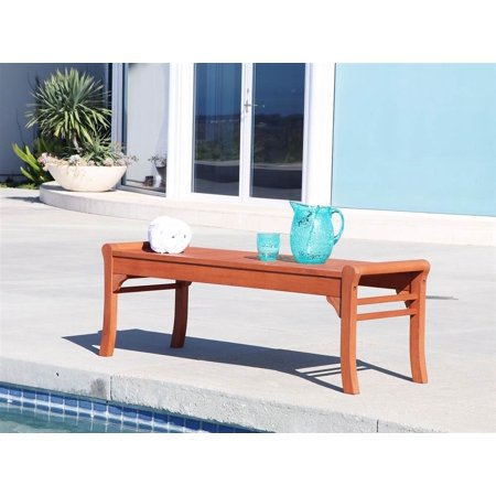 Malibu Eco Friendly Backless Patio Garden Bench