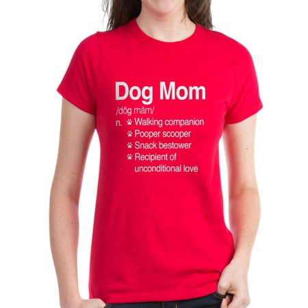 42e4dc099 CafePress - CafePress - Dog Mom - Women's Dark T-Shirt - Walmart.com