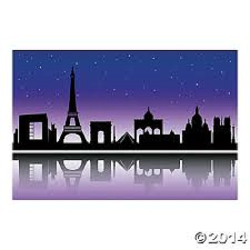 City of Paris Backdrop Banner Scene Wedding Birthday Photo Both Decoration