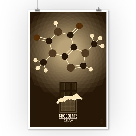 Chocolate - Chemical Elements - Lantern Press Artwork (9x12 Art ...