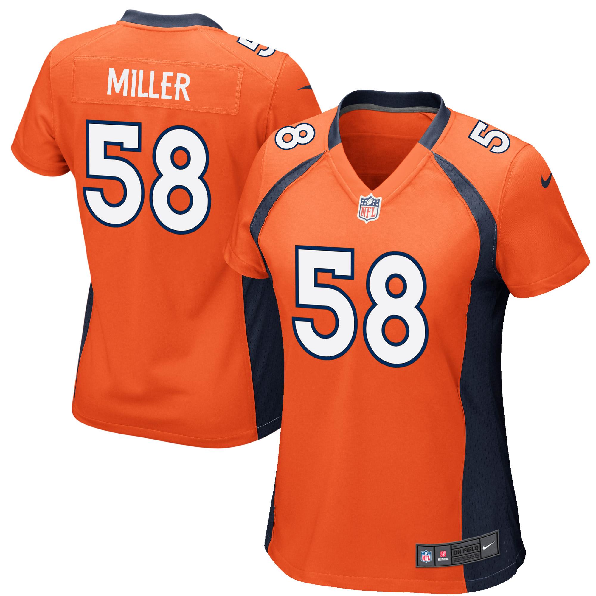 Von Miller Denver Broncos Nike Women's Game Jersey - Orange