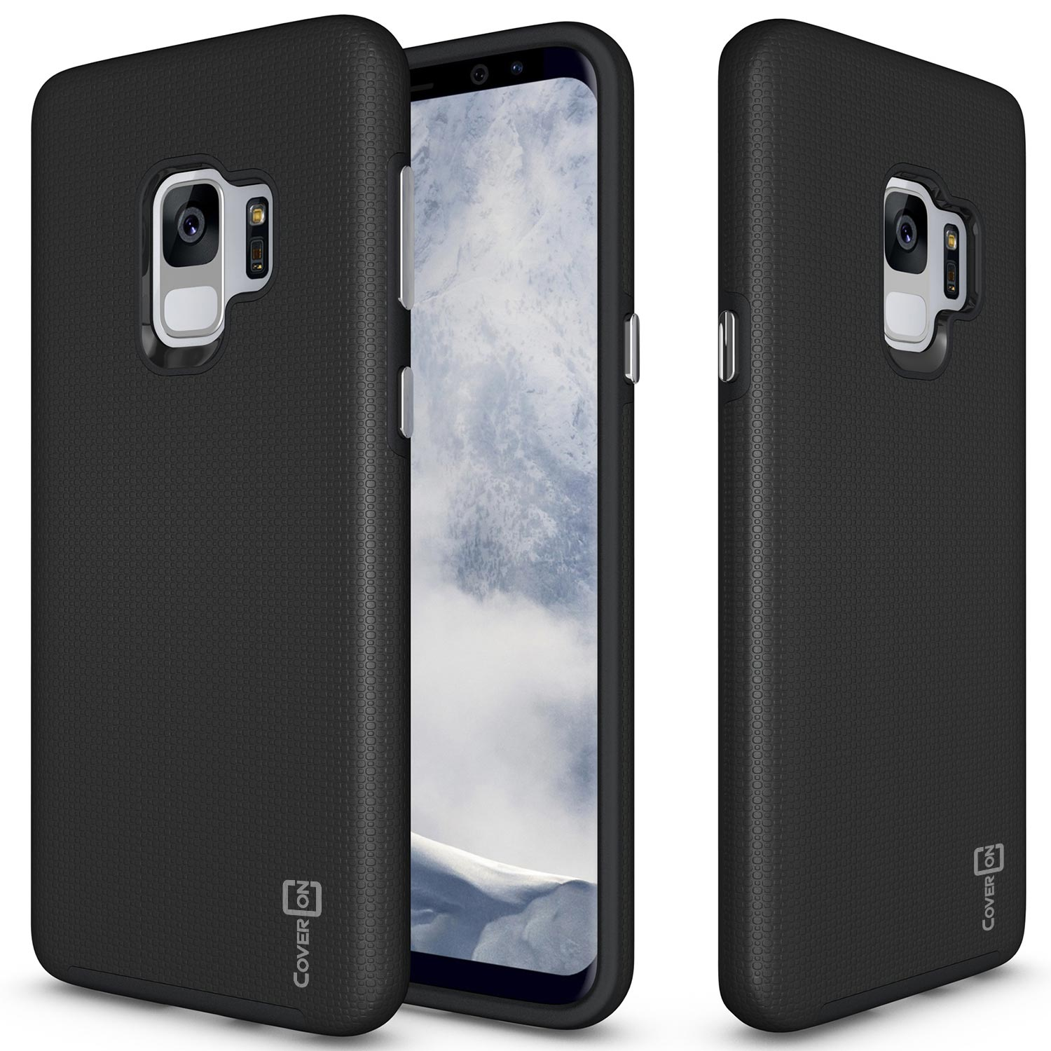 CoverON Samsung Galaxy S9 Case, Rugged Series Protective Hybrid Phone Cover