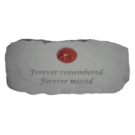 Kay Berry Forever Remembered 29 in. Cast Stone Memorial Bench With Personalized Insert