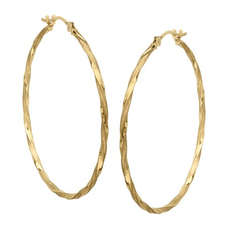 14k Gold Rope Hoop Earrings (Twisted Hoop Earrings in 14kt)