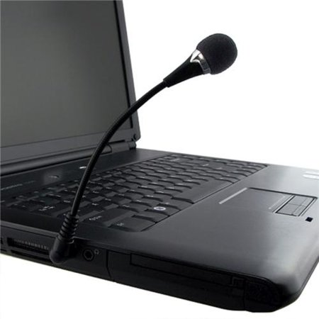 Insten 3.5mm Mini Flexible Microphone Mic for PC Laptop Desktop VOIP SKYPE Internet Call WhatsApp