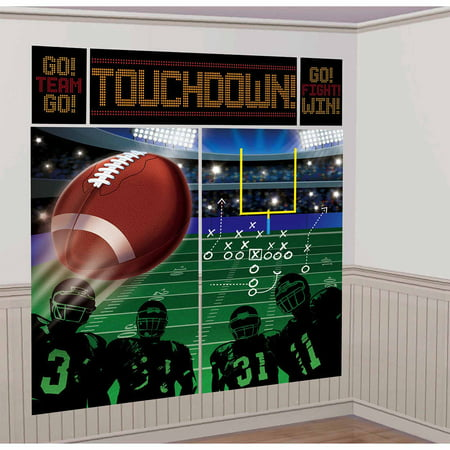 Football Scene Setter Wall Decor Kit