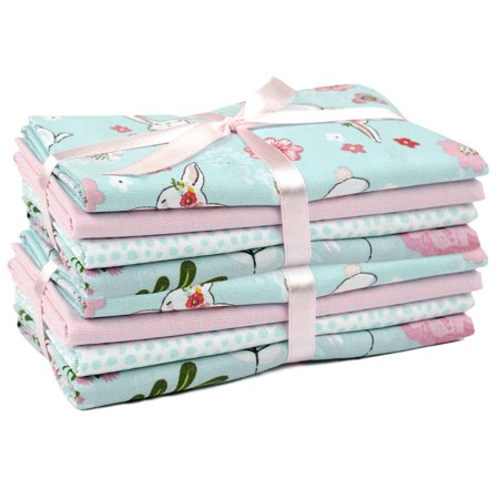 "Fabric Editions, Cotton Fabric, Fat Quarter 5pc Bundle Set Of 2, ""18x21"", Easter Hop To It"