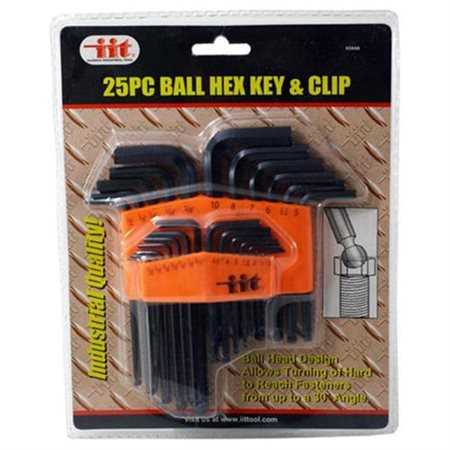 Illinois Industrial Tool 25 Pc  Ball Hex Keys And Clip