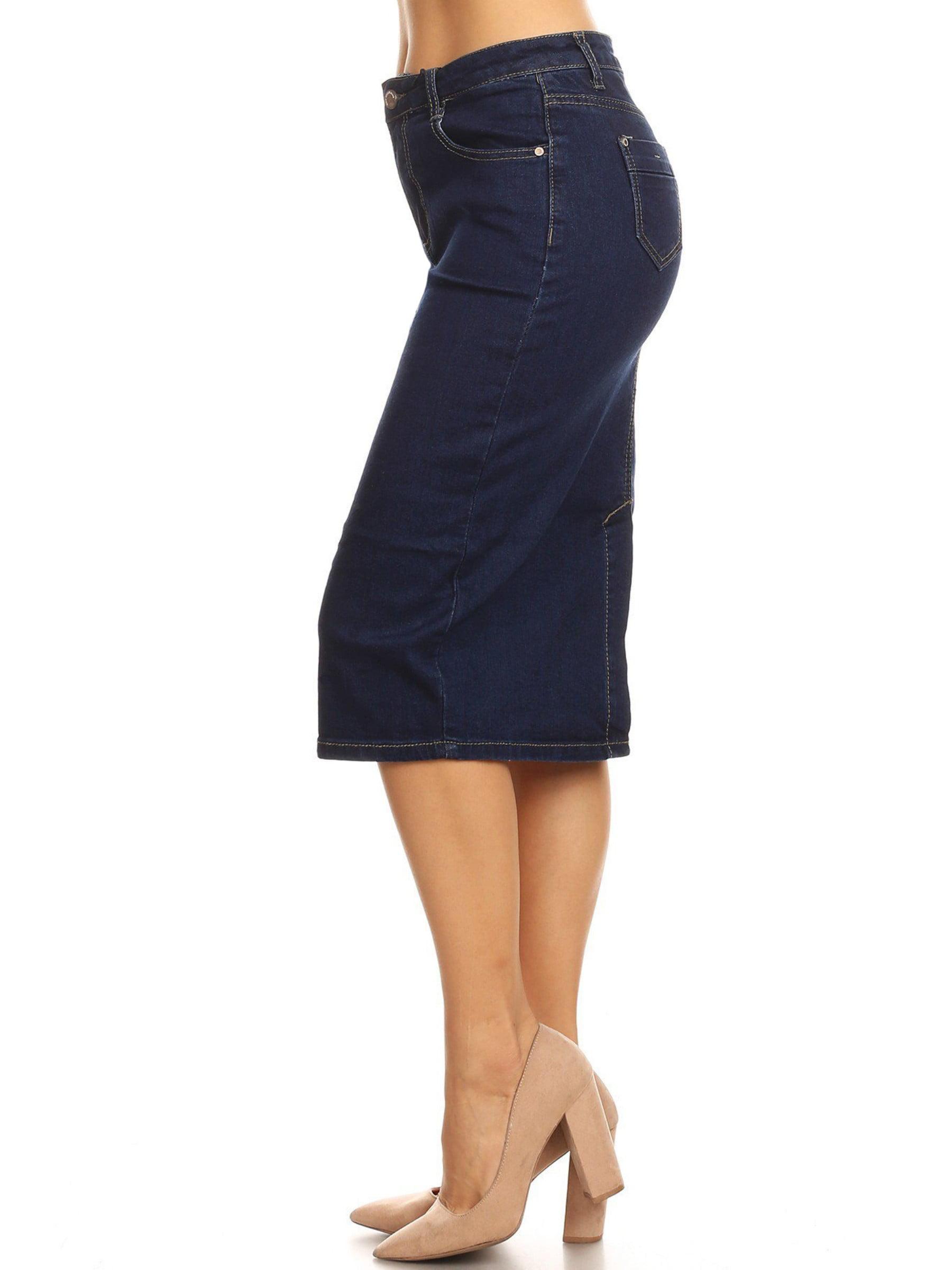 574f8b76b166 Knee Length Jean Skirts For Juniors – DACC