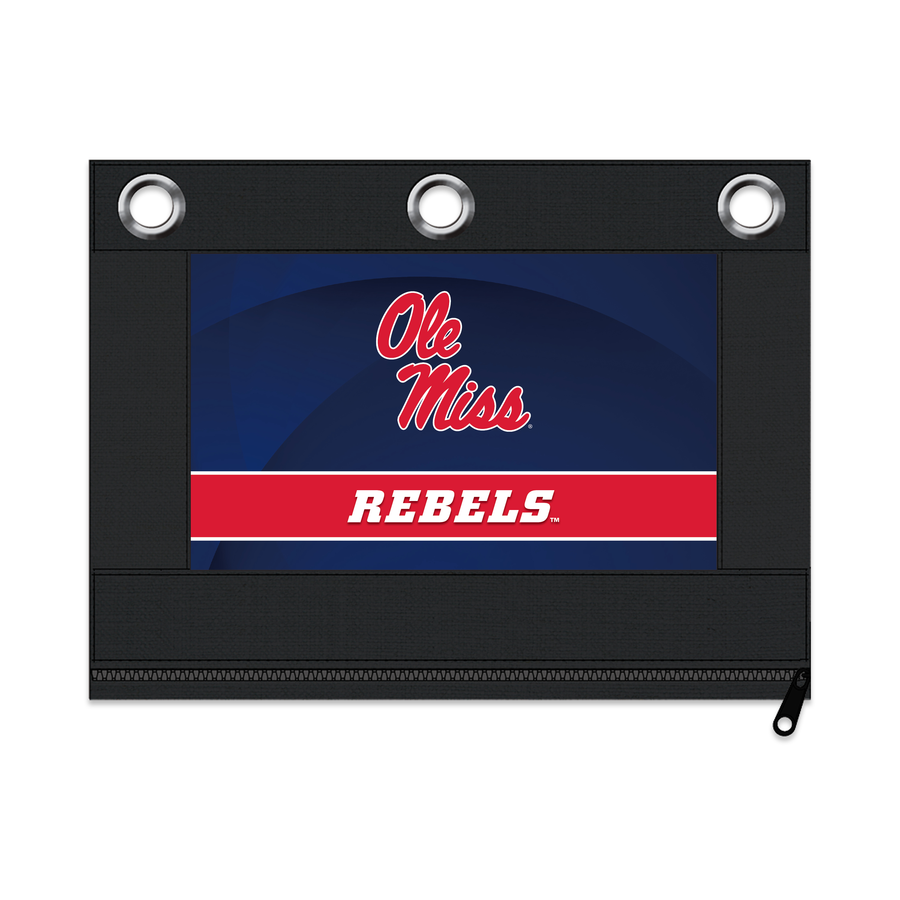 NCAA Mississippi Rebels Zippered Pencil Pouch with Grommets