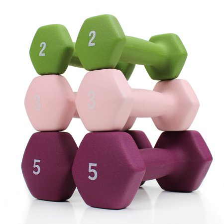 XPRT Fitness 20 LB. Neoprene Dumbbell Set. 3 Pairs of Hand Weights - Home Gym Workout
