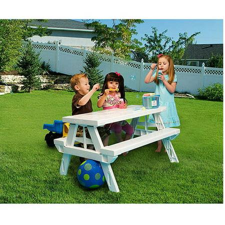 Kidnic Children S Picnic Table White