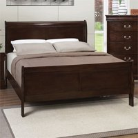 Bowery Hill Queen Sleigh Panel Bed in Cappuccino