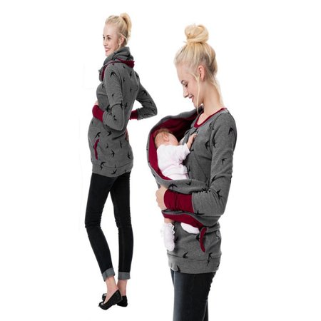 a4f11226ec3e8 Womens Maternity Hoodie Sweatershirt Breastfeeding Nursing Jumper Tops -  Walmart.com