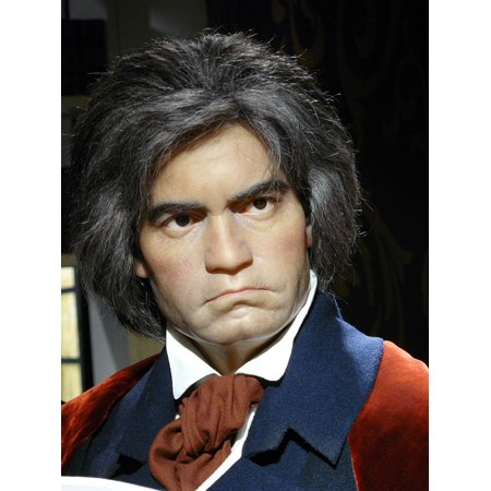 Canvas Print Ludwig Van Beethoven Madame Tussauds Wax Museum Stretched Canvas 10 x 14 ()