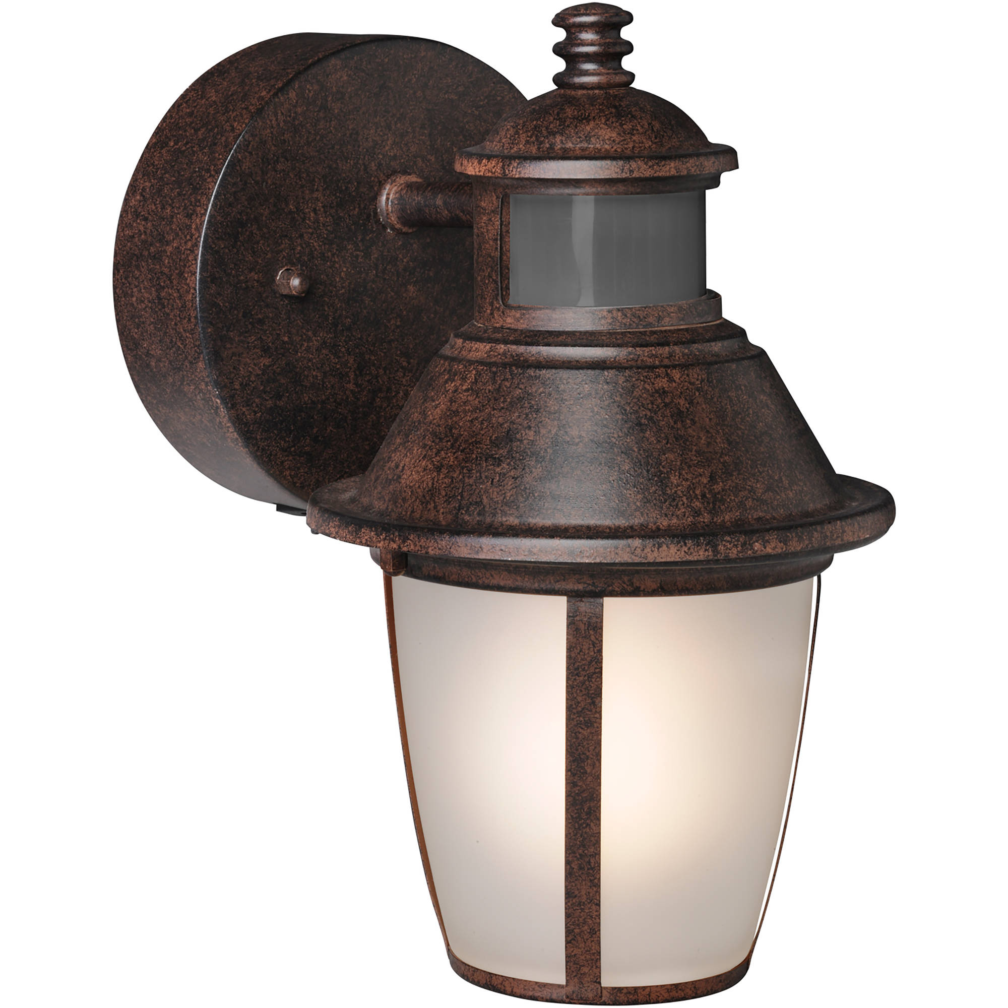 brinks led outdoor wall lantern motion security light bronze walmartcom - Led Motion Sensor Light