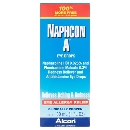 Alcon Naphcon A Eye Allergy Relief Eye Drops  1 Fl Oz