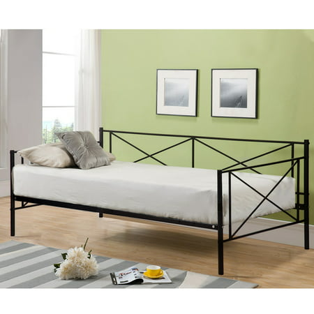 Victoria Metal Daybed Metal Sofa Bed Frame Multifunctional With Metal Slates ()