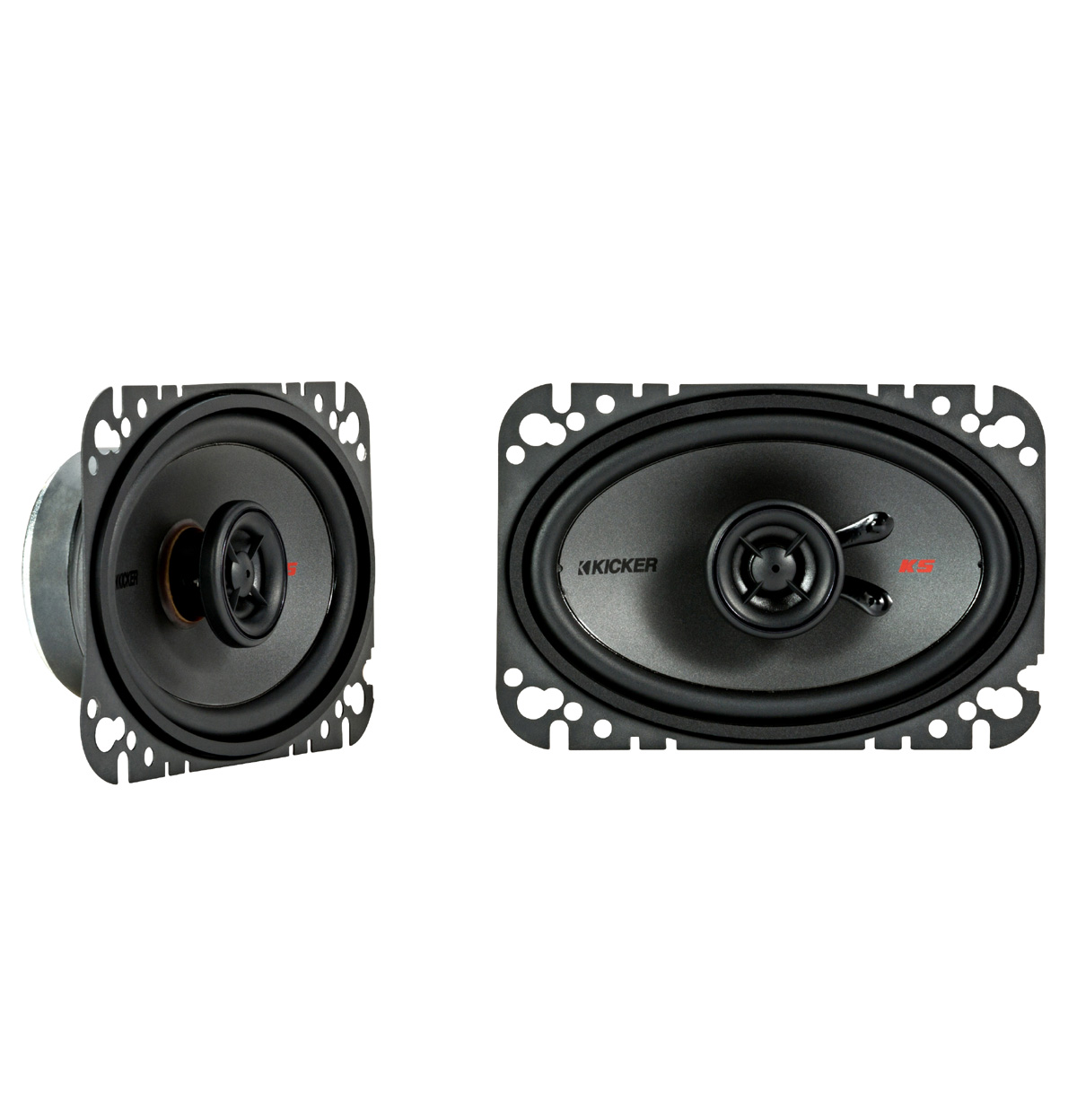 "KICKER 44KSC4604 4x6"" (100x160mm) Coax Spkrs w/.5""(13mm) tweeters, 4ohm, RoHS Compliant"