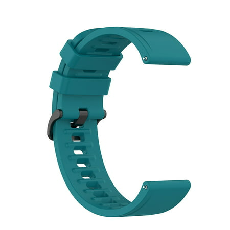 Milochic 22mm Silicone Band for Xiaomi Mi Watch Color Replacement Bracelet (Green)