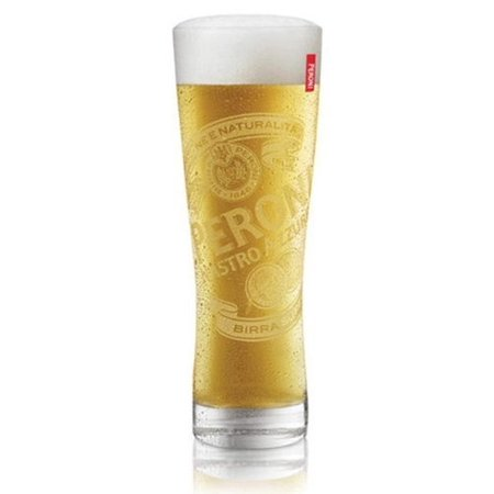Italian Beer Glasses 0.4L - Set of 2, Authentic Peroni glasses from Sahm Glassware of Germany By (Vintage German Glass)