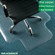 "Non Slip Office Chair Desk Mat Floor Computer Carpet Protector PVC Plastic Clear 47"" x 35"""