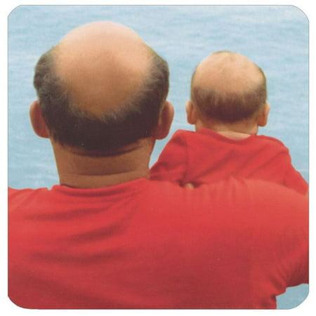 Avanti Press Baby & Bald Man In Red Shirts Square Gift Card Holder Greeting - Bald Old Man