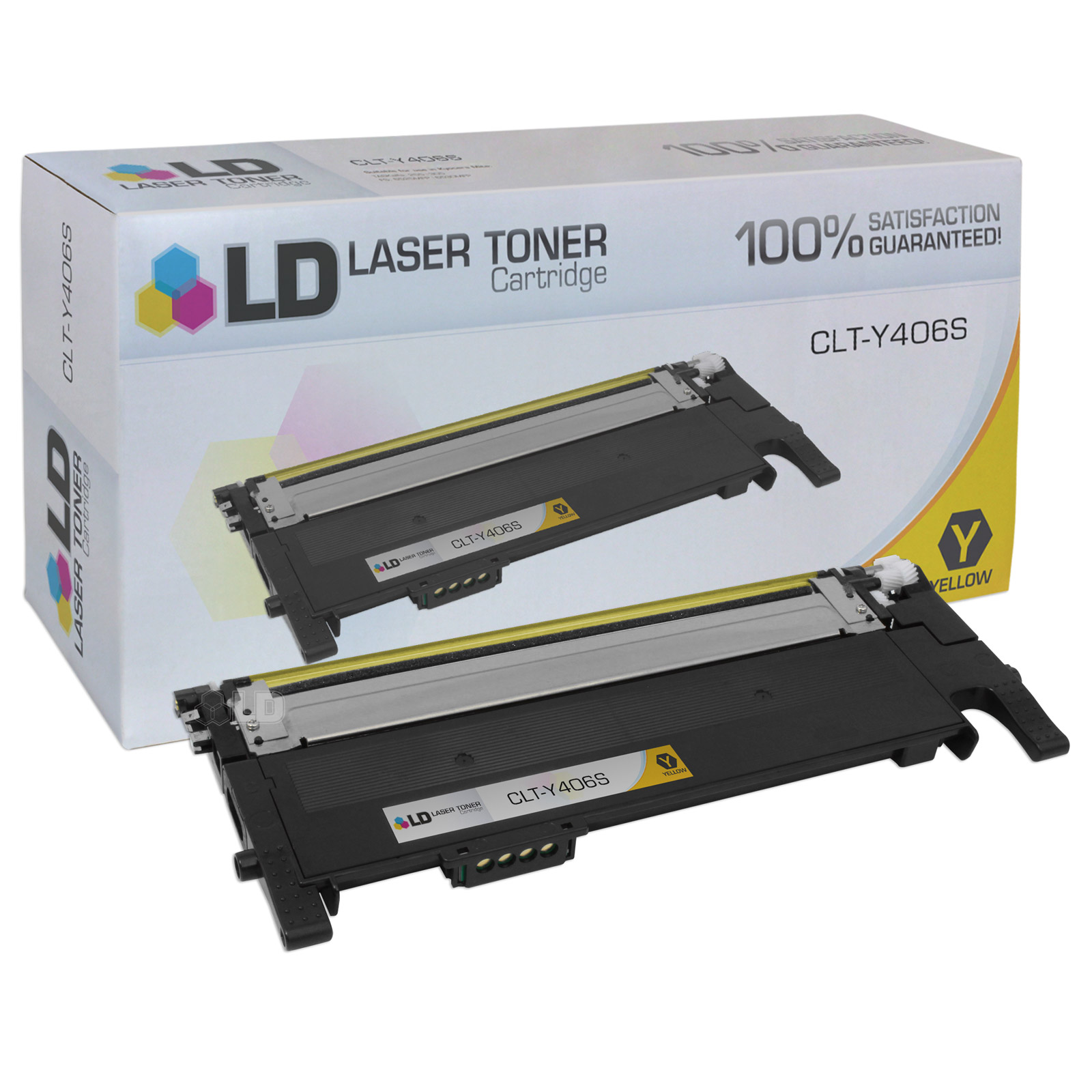 LD Compatible Alternative to Samsung CLT-Y406S Yellow Laser Toner Cartridge for use in the: CLP-365W, CLP-3305FW, Xpress