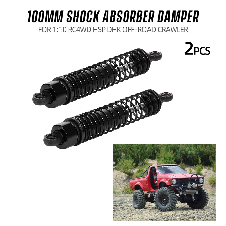 2pcs 1//10 Metal Shock Struts Damper Accs Fit for HSP RC Car Model Purple 60MM