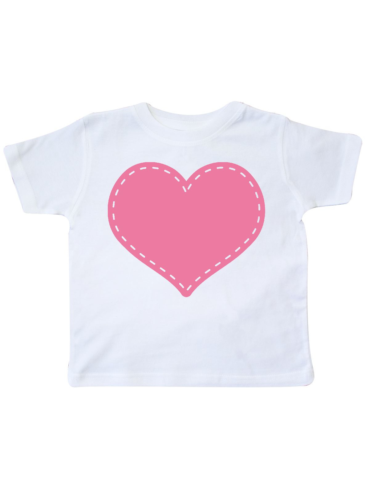 inktastic Pink Heart Stitch Border Toddler T-Shirt