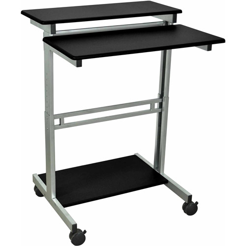 Luxor Stand Up Adjustable Workstation, Black