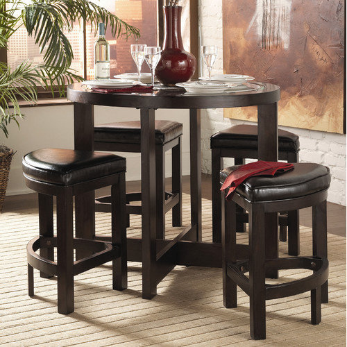 Woodhaven Hill 3219 Series 5 Piece Counter Height Dining Set