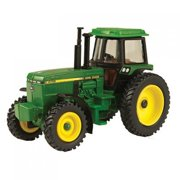 1/64 Scale 4755 Tractor, Features durable die-cast and plastic construction with single rear wheels and front fenders. By John Deere