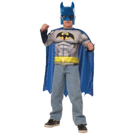 Batman Muscle Chest Set Child Costume - Batman Muscle Chest