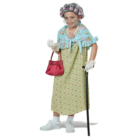 Girls Old Lady Halloween Costume Kit - Costumes For Old Ladies