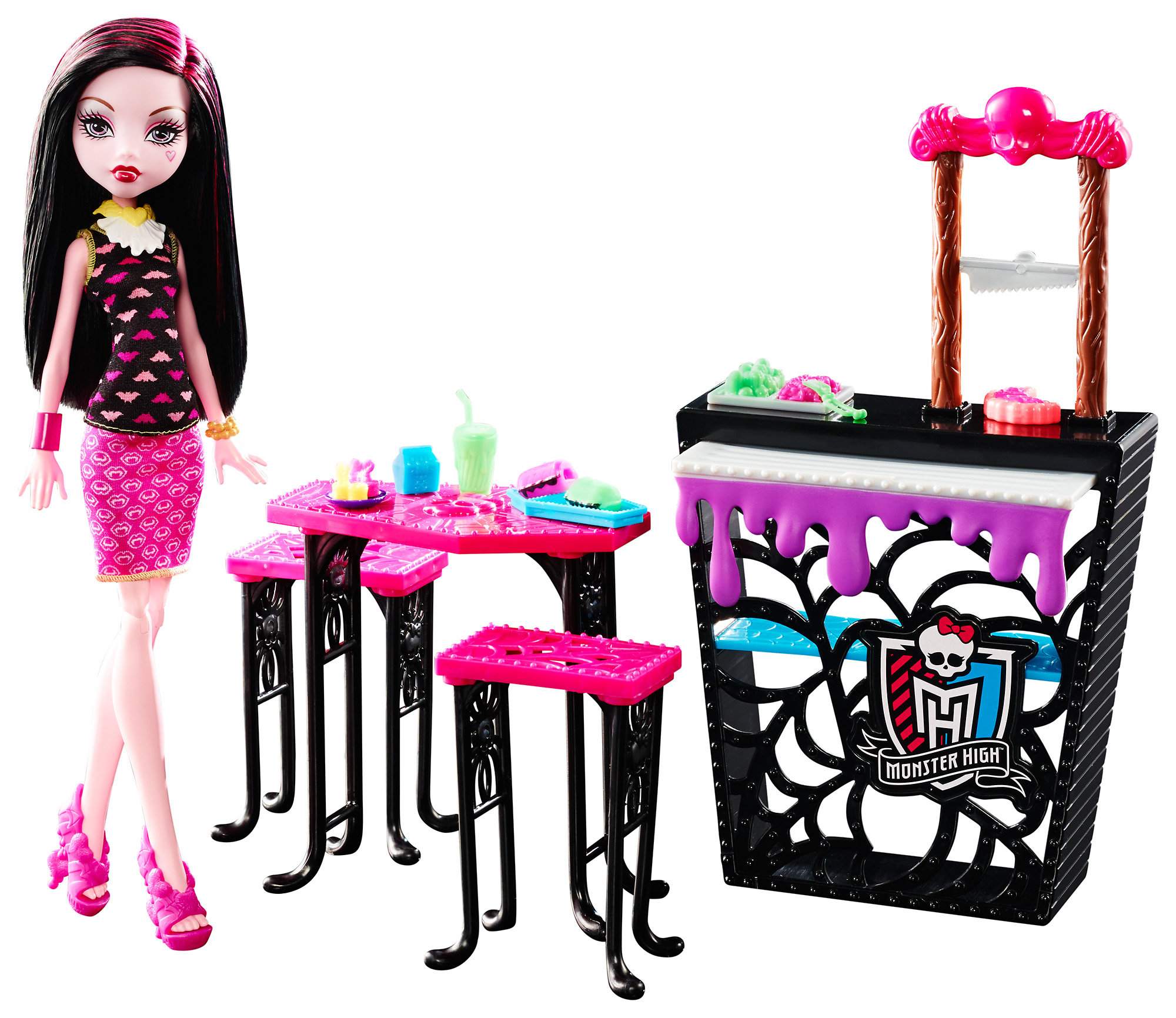 Monster High Beast Bites Caf Draculaura Doll Playset by Mattel