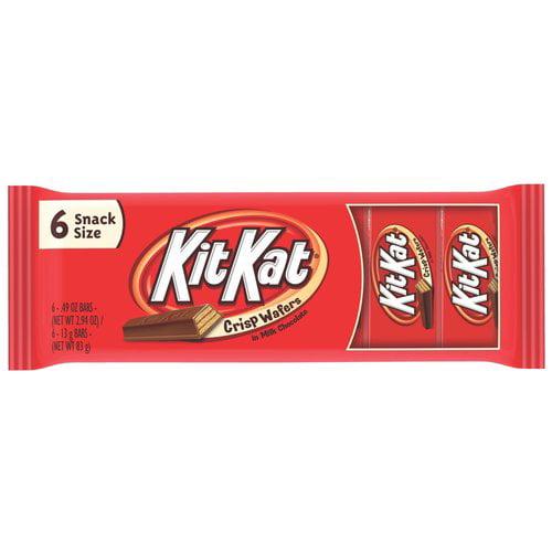 Kit Kat Snack Size Wafer Bars, .49 oz, 6 count