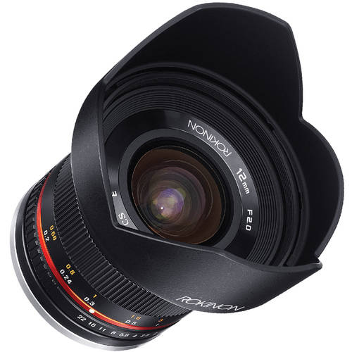 Rokinon 12mm F2.0 Ultra-Wide-Angle Lens for Fuji X Mount, Black