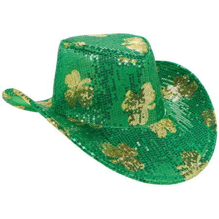 St. Patrick's Day Sequin Adult Cowboy (St Patrick's Day Costumes For Toddlers)
