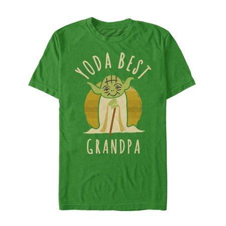 Star Wars Men's Yoda Best Grandpa Cartoon T-Shirt